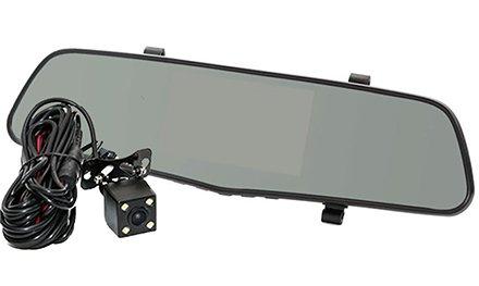 Зеркало с видеорегистратором Phantom RM-43 DVR накладное с дисплеем 4,3', WDR и двумя камерами