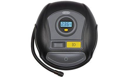 Компрессор автомобильный (насос) Ring RTC400 с цифровым манометром и LED фонарем