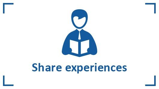 Share knowledge and experience with customers