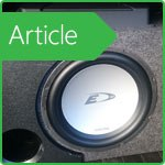 Special features subwoofers in the car