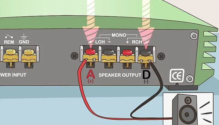 How to connect the amplifier with a bridge?