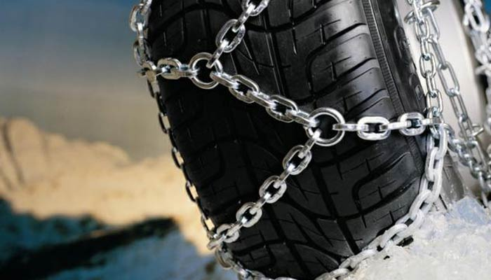 Snow chains: recommendations on the selection and operation of