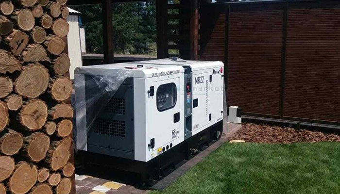 Safety rules at work with a diesel generator