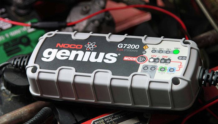 What voltage does the start-stop battery need to be charged?