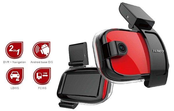 PAPAGO! GoSafe770 — регистратор с GPS навигатором на Android