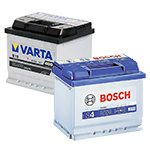 Batteries (battery) Varta and Bosch — our choice!