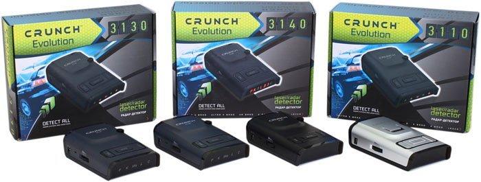 Evolution — новая серия  радар-детекторов Crunch