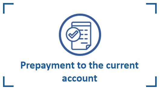 Prepayment to current account