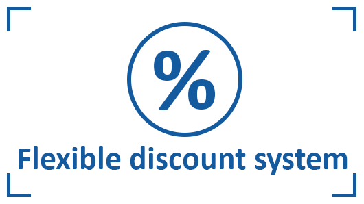 Flexible discount system