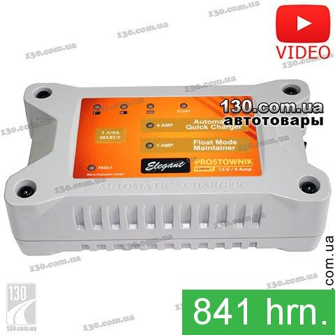 Impulse charger Elegant Compact 100 410 12 V, 4 A for car battery