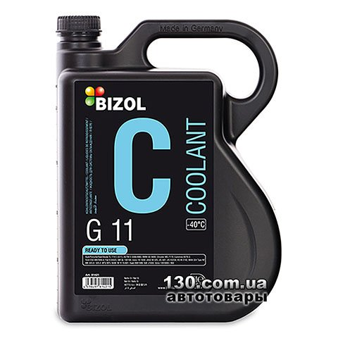 Антифриз Bizol Coolant G11 -40°C Ready To Use 5 л