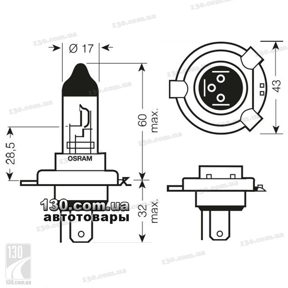 Automotive-halogen-bulb-OSRAM-H4-64193-0