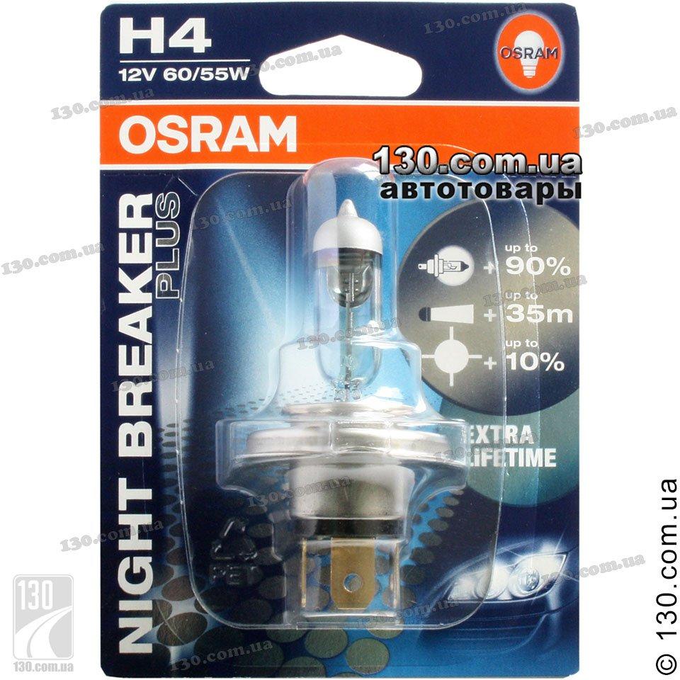osram h4 64193nbp 01b night breaker plus automotive. Black Bedroom Furniture Sets. Home Design Ideas