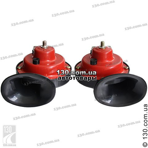 "Automotive sound ""snail"" Vitol CA-10122 color red-black"