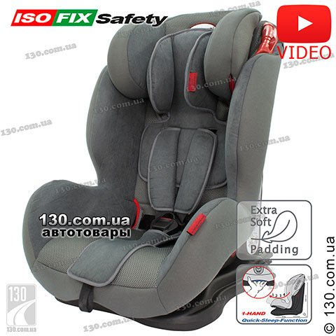 Child car seat with ISOFIX HEYNER Capsula MultiFix AERO Koala Grey (787 120)