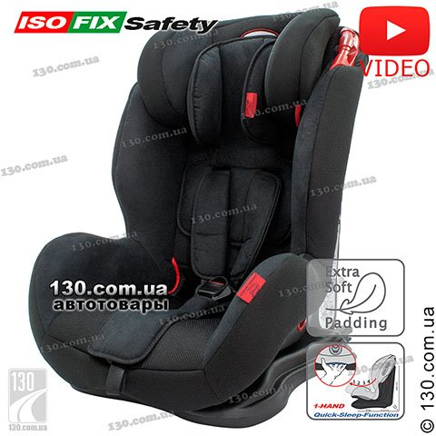 Child car seat with ISOFIX HEYNER Capsula MultiFix AERO Pantera Black (787 110)