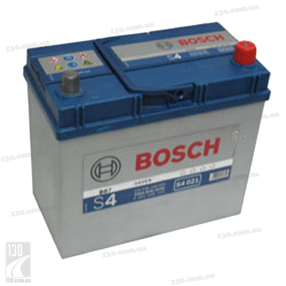 Car battery bosch s4 silver 545 156 033 45 ah right for asia