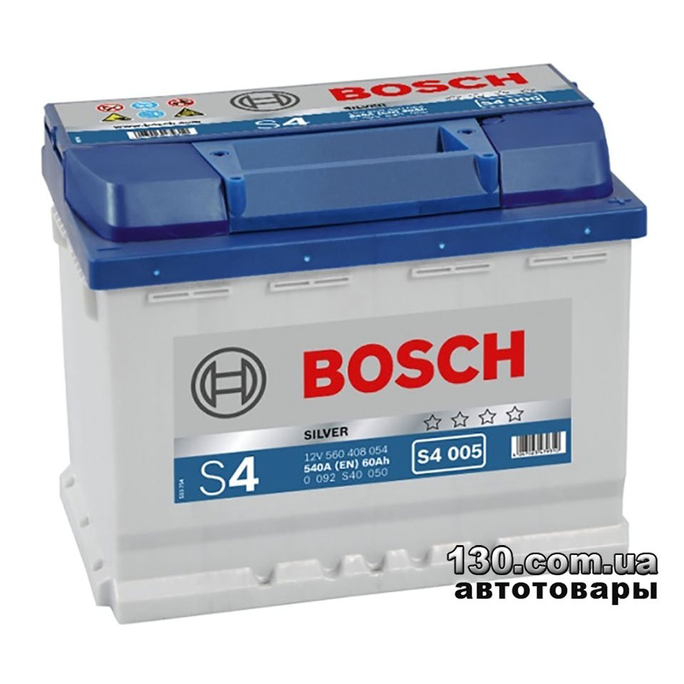 bosch s4 silver 560 408 054 60 ah car battery right. Black Bedroom Furniture Sets. Home Design Ideas
