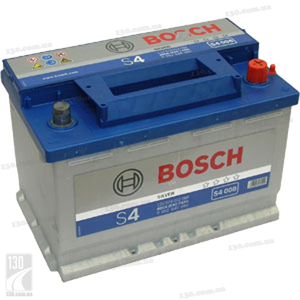 bosch s4 silver 574 012 068 74 ah car battery right. Black Bedroom Furniture Sets. Home Design Ideas