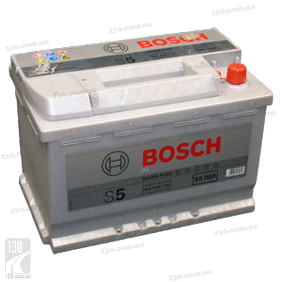 Car battery bosch s5 silver plus 577 400 078 77 ah right