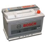 "Car battery Bosch S5 Silver Plus 577 400 078 77 Ah right ""+"""