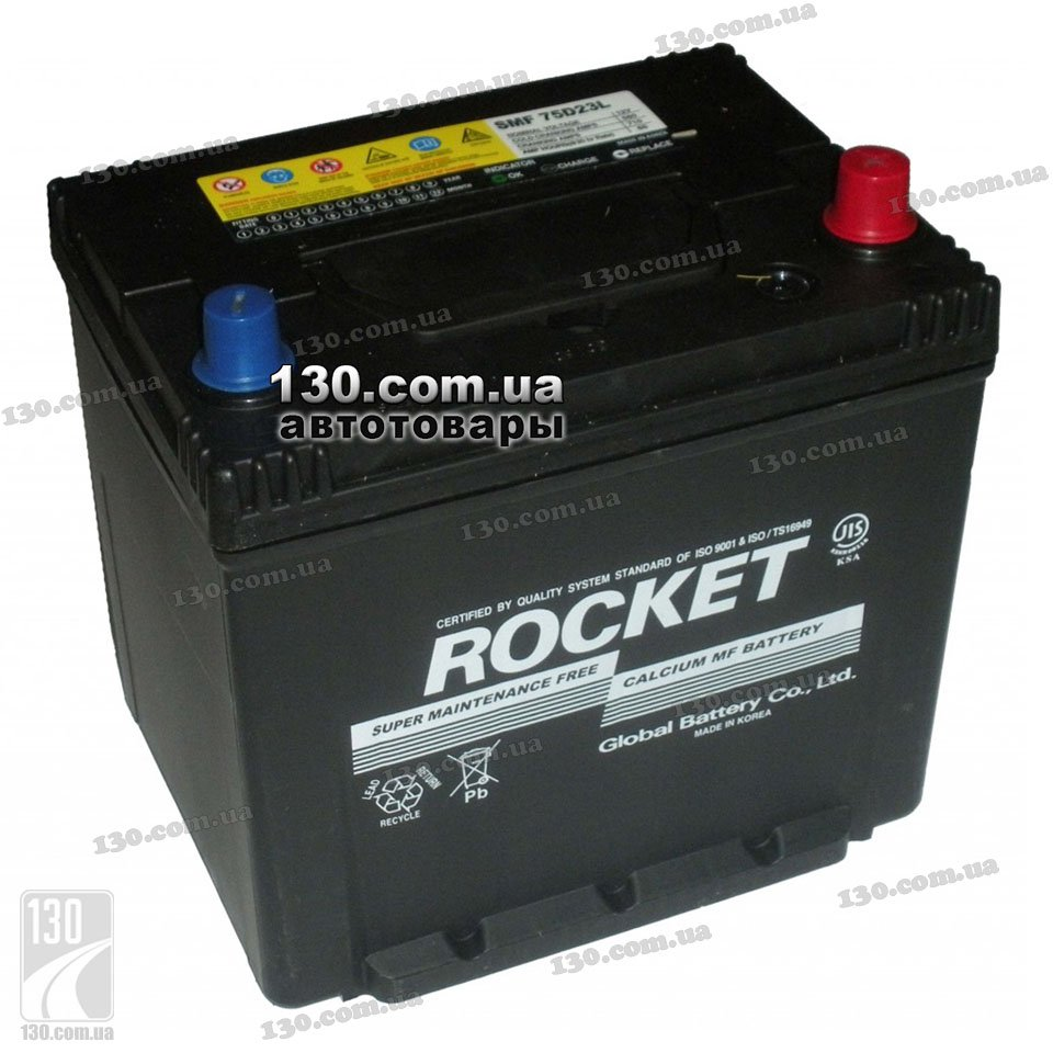 Rocket 6ct 90az 90 ah car battery right for asia type cars