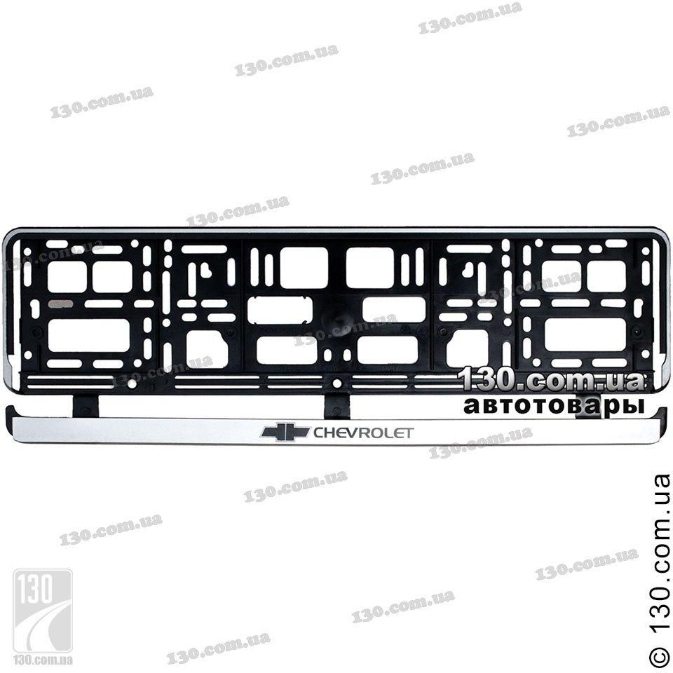 Vitol Chevrolet/PL — buy car number license plate frame color black