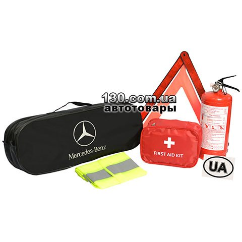 Cars owner set with a bag Poputchik 01-023-E black for Mercedes-Benz
