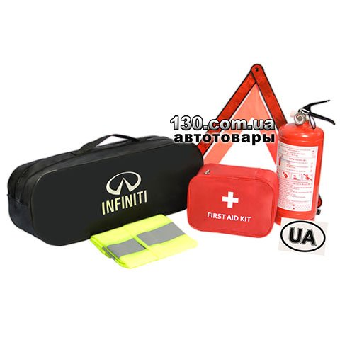 Cars owner set with a bag Poputchik 01-025-E black for Infinity