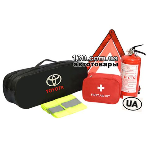 Cars owner set with a bag Poputchik 01-026-E black for Toyota