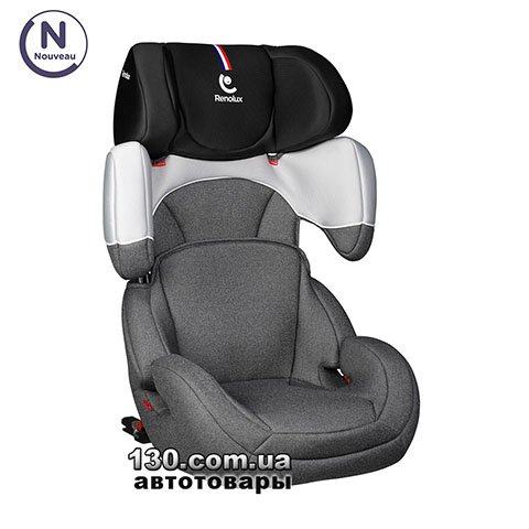 Child car seat with ISOFIX Renolux StepFix 2/3 Smart Black
