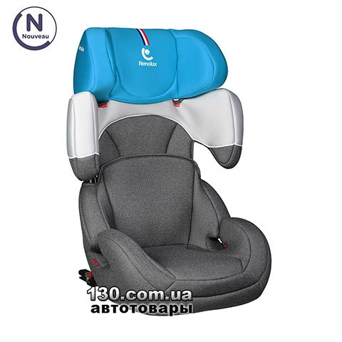 Child car seat with ISOFIX Renolux StepFix 2/3 Smart Blue