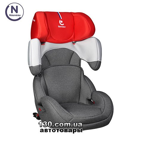 Child car seat with ISOFIX Renolux StepFix 2/3 Smart Red