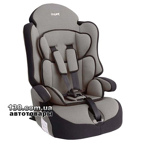 Child car seat with ISOFIX Siger Prime Gray (KRES0148)