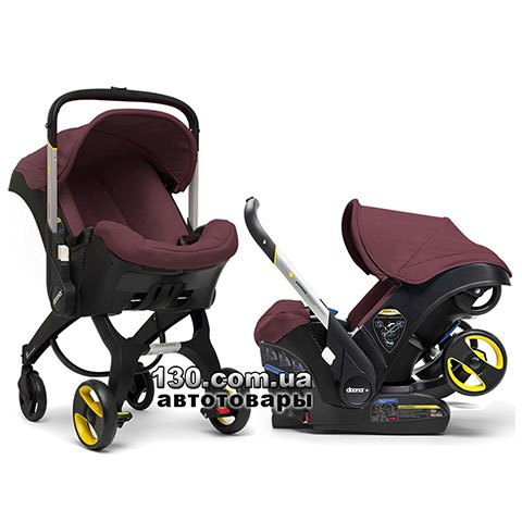 Child car seat with stroller Doona Infant Burgundy / Cherry
