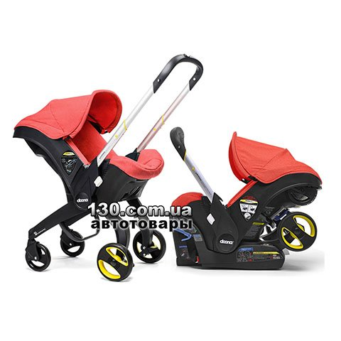 Child car seat with stroller Doona Infant Love / Red