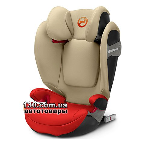 Child car seat with ISOFIX Cybex Solution S i-Fix Autumn Gold burnt red