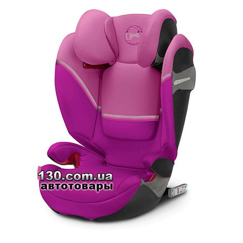 Child car seat with ISOFIX Cybex Solution S i-Fix Magnolia Pink purple