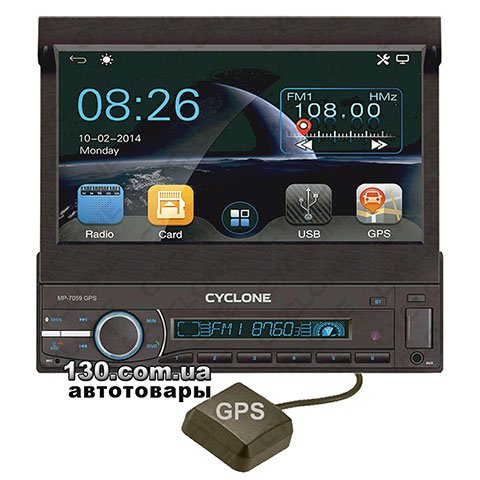 Медиа-станция Cyclone MP-7059 GPS с Bluetooth и GPS