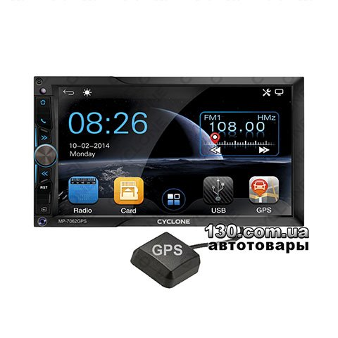 Медиа-станция Cyclone MP-7062 GPS с Bluetooth и GPS