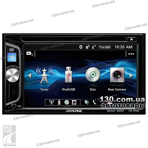 DVD/USB автомагнитола Alpine IVE-W560BT-R с Bluetooth
