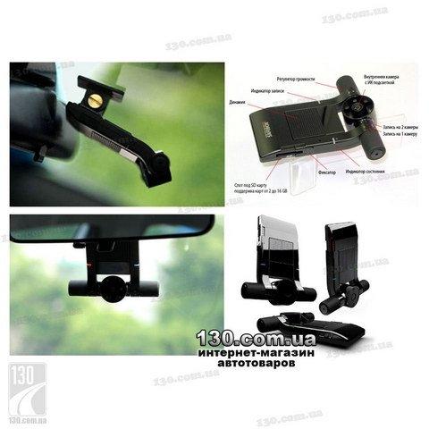 Автомобильный видеорегистратор с двумя камерами и GPS логгером