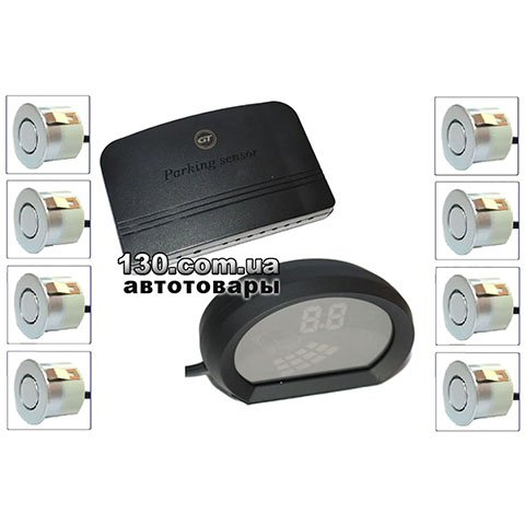 Парктроник GT P Fusion 8 silver (P FS8 Silver) с LED-дисплеем
