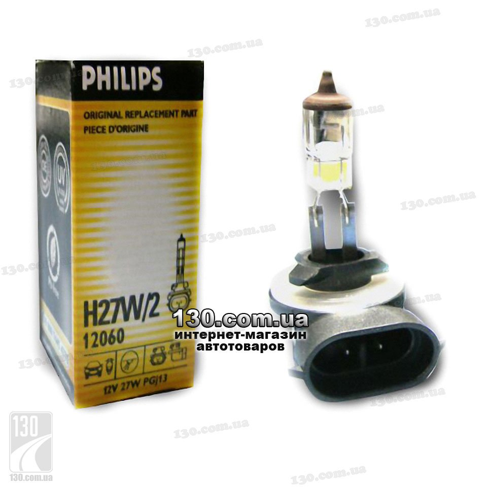 philips h27w 2 12 v 27 w 12060 halogen lamp