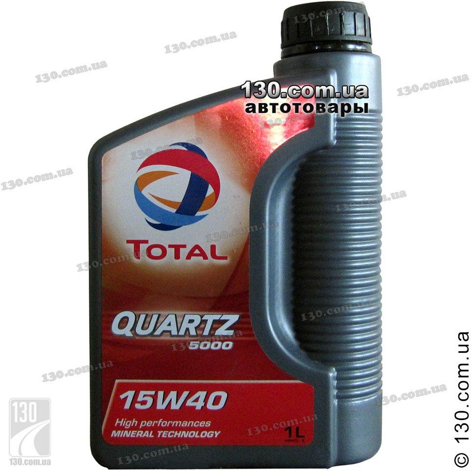 Total Quartz 5000 15w 40 Mineral Motor Oil 1 L For Cars