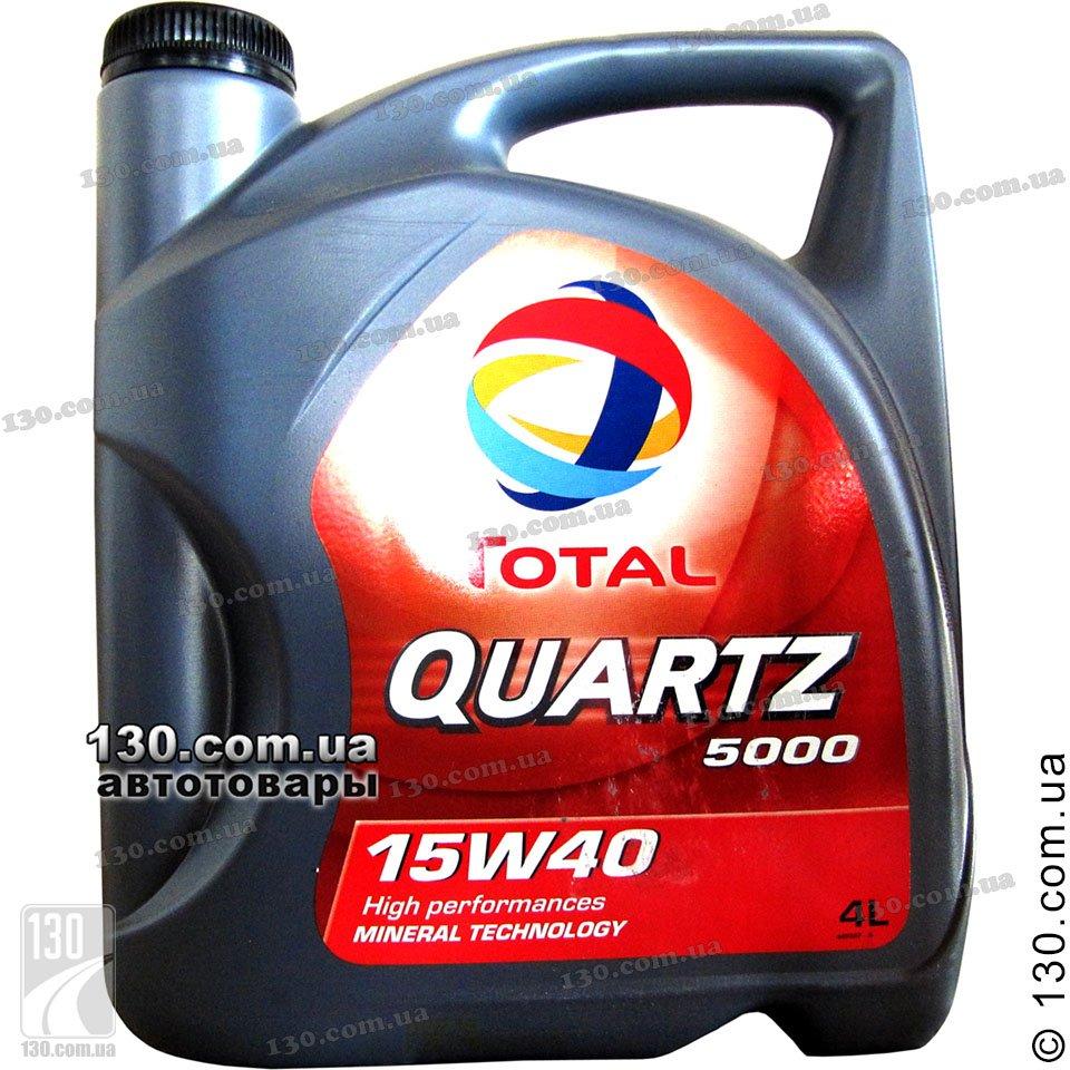 Total Quartz 5000 15w 40 Mineral Motor Oil 4 L For Cars