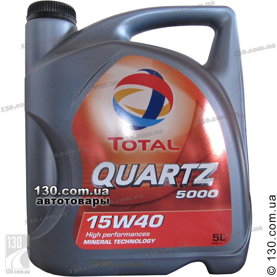 Total Quartz 5000 15w 40 Mineral Motor Oil 5 L For Cars
