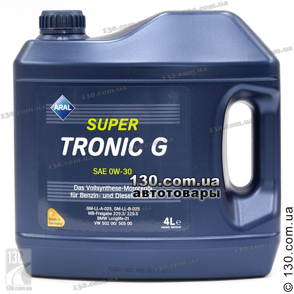 Aral Supertronic G Sae 0w 30 Buy Synthetic Motor Oil 4