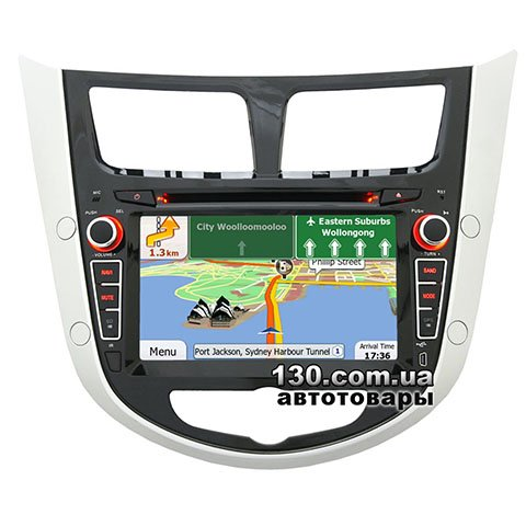 Native reciever nTray 7258 with GPS navigation and Bluetooth for Hyundai