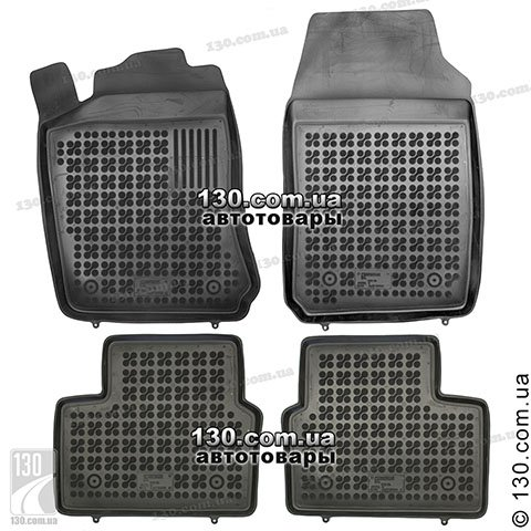 Rubber floor mats Rezaw-Plast 200503 for Opel Vectra B